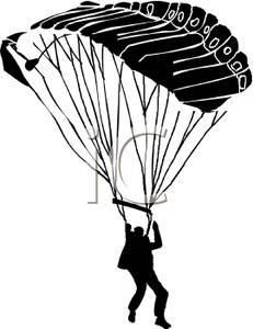 231x300 Silhouette Of A Skydiver Parachuting