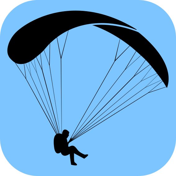 567x567 Silhueta Simples De Um Parapente Simple Paragliding Silhouette
