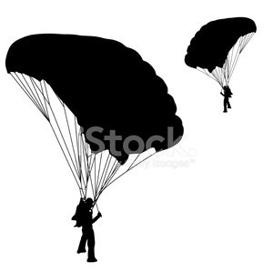 300x300 Skydiver Stock Vectors