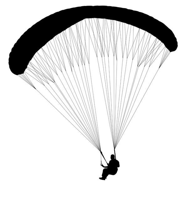 607x700 Paragliding Silhouette