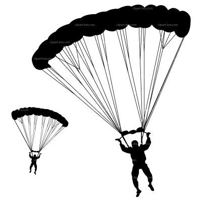400x400 Army Silhouette Parachute Clipart Paraquedas