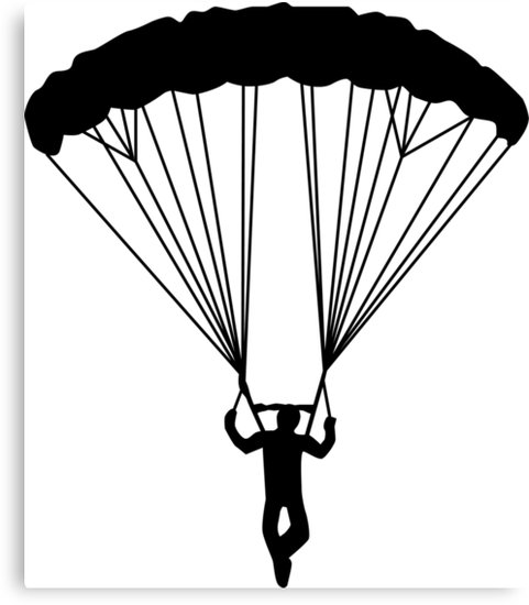 481x550 Skydiver Silhouette Canvas Prints By Maydaze Redbubble