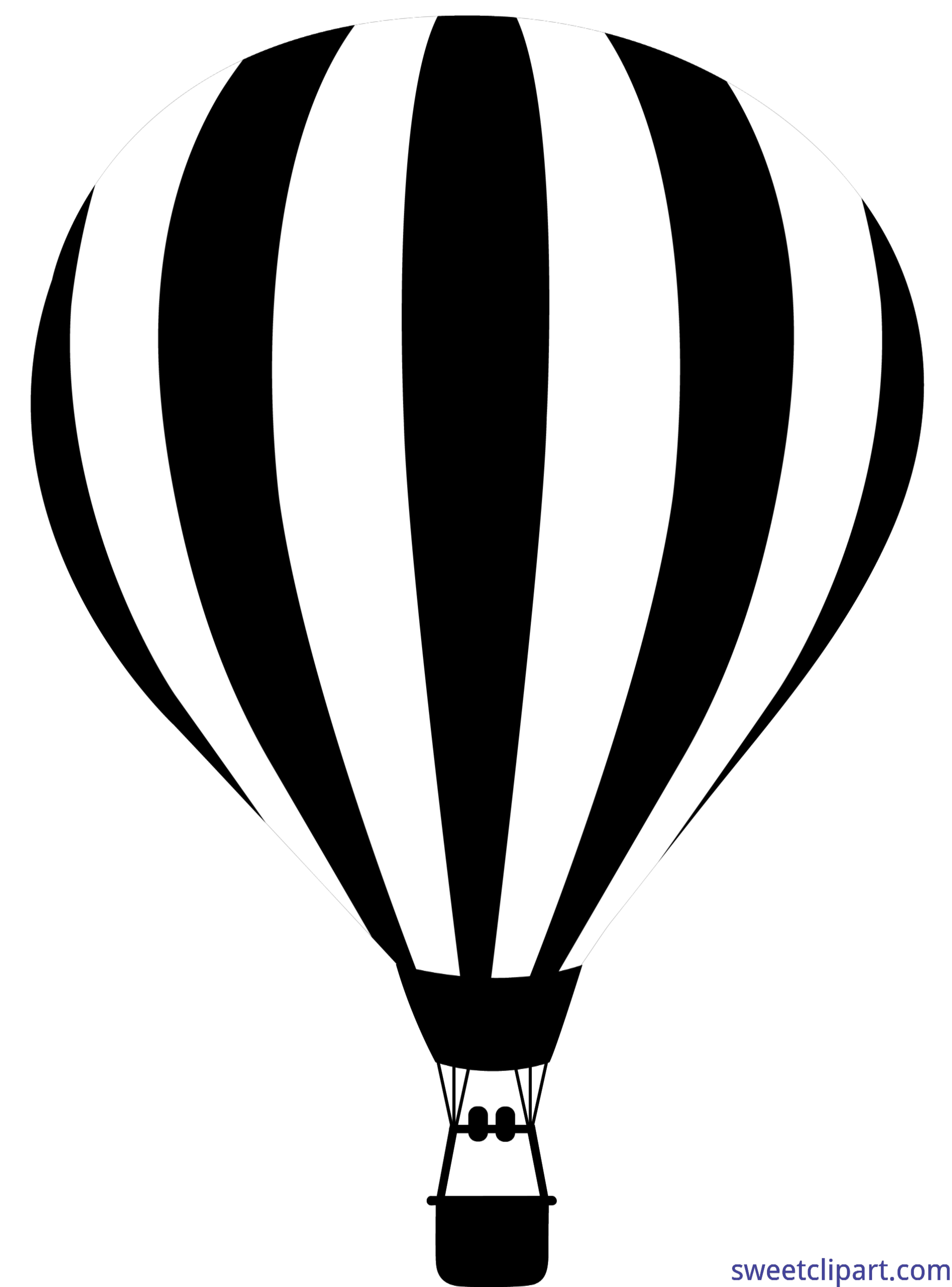 4114x5559 Hot Air Balloon Silhouette Clip Art