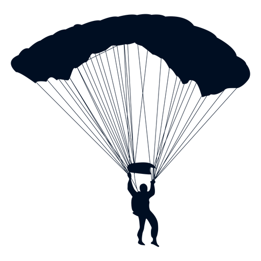 512x512 Man Falling With Parachute Silhouette