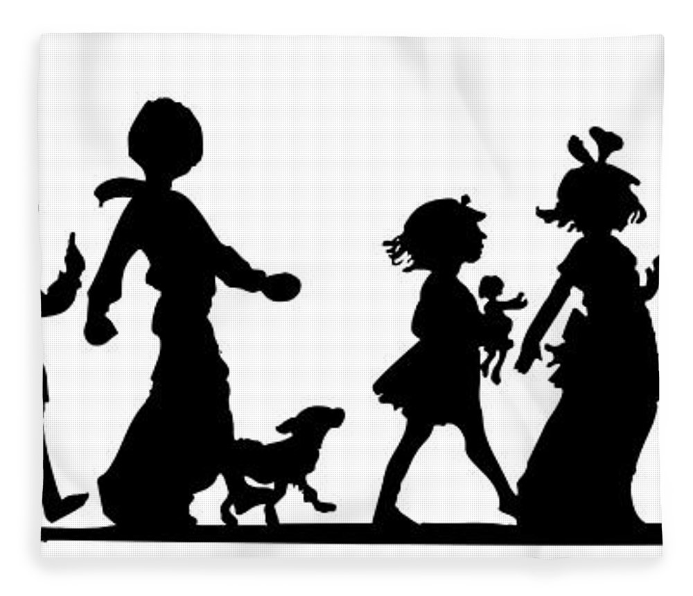 1000x860 4th Of July Childrens Parade Panorama Fleece Blanket For Sale By