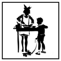 236x236 For Sale! Silhouette Artwork! 4th Of July Childrens Parade