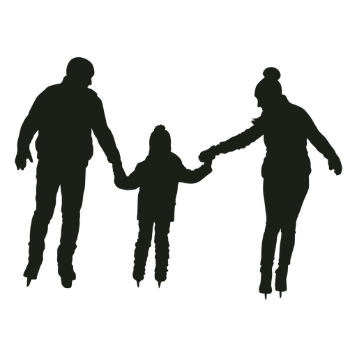 512x512 Parents And Boy Skating Silhouette