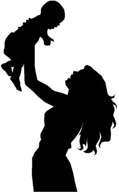 236x380 Silhouette Of A Father Holding His Child Art