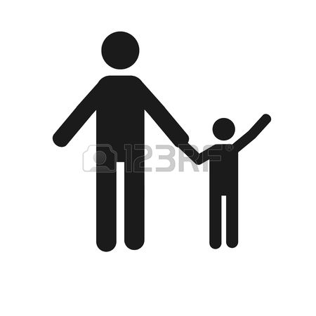450x450 Children Holding Hands Silhouette Color Clipart