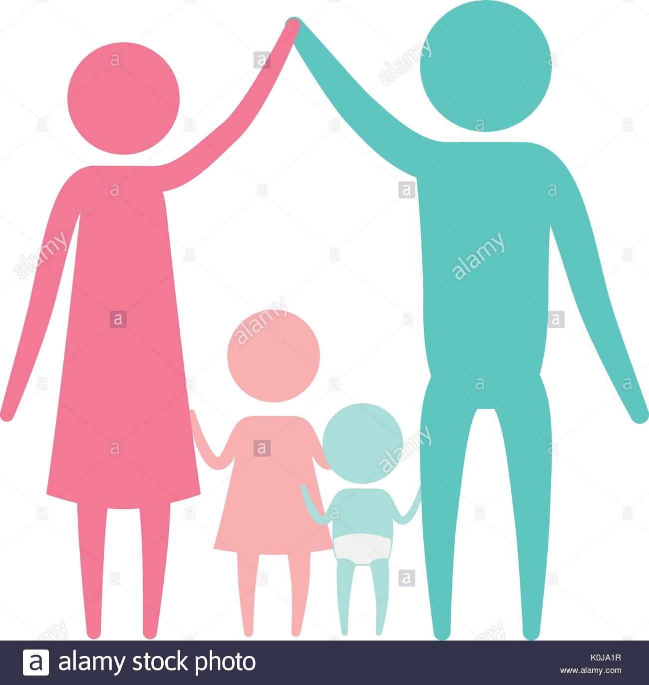 1300x1371 Color Silhouette Set Pictogram Parents Holding Hands Up And Baby