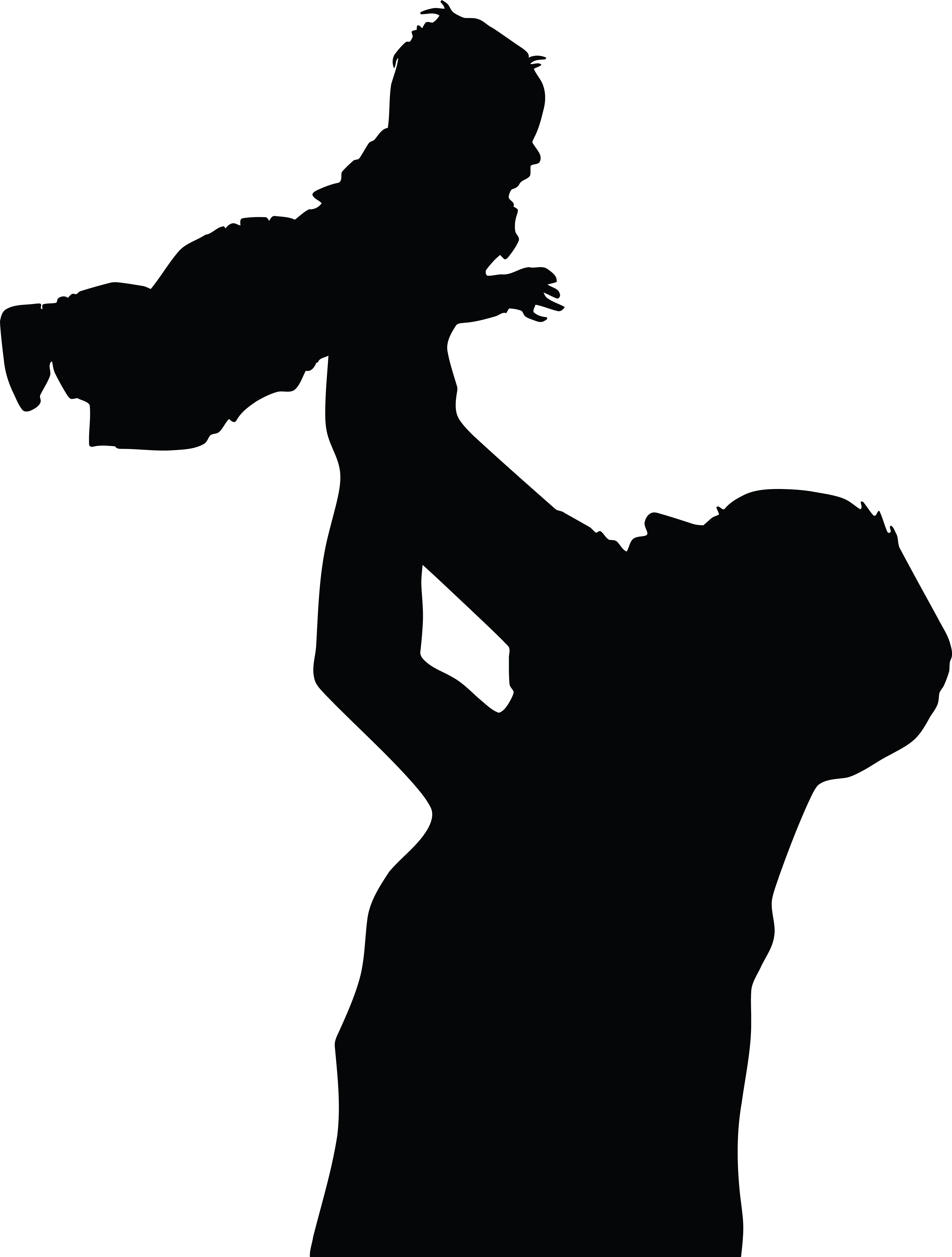 4000x5280 Clipart Of A Silhouetted Father Holding Up A Baby