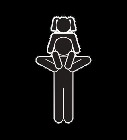 501x550 Family Parents Silhouette