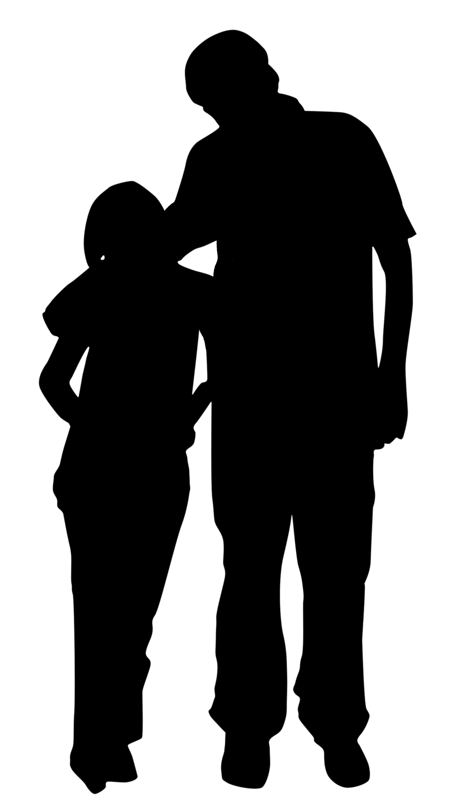 1500x2613 Father And Daughter Clipart Black And White