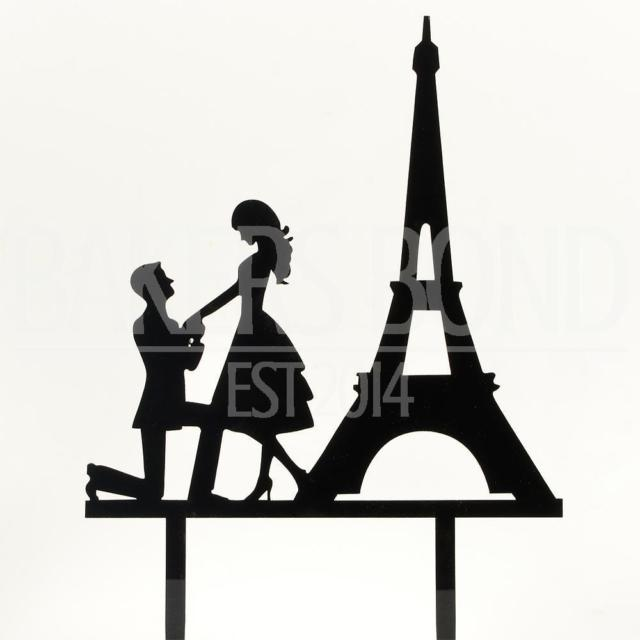 640x640 Engagement Cake Topper Mr Amp Mrs Paris Eiffel Tower Black Acrylic