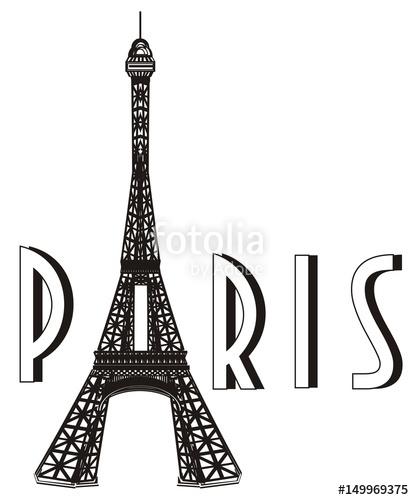 414x500 Paris, France, Eiffel Tower, Symbol, Illustration, Cartoon, Mettal