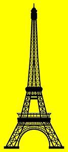 134x300 Paris Silhouette Paintings