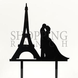 300x300 Wedding Cake Topper Mr Amp Mrs Paris Eiffel Tower Black Acrylic