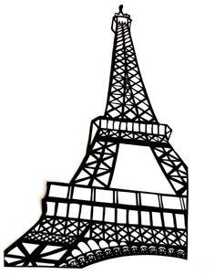 236x301 Drawn Eiffel Tower Silhouette