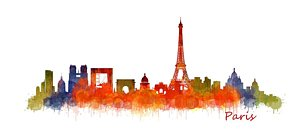 300x138 Paris Silhouette Paintings