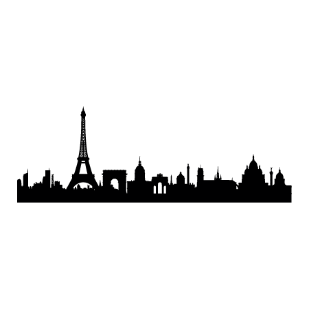 450x450 Paris Skyline Wall Decal