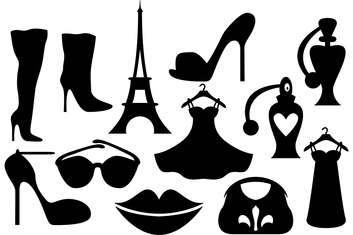 1500x1000 Paris Fashion Boutique Silhouette Clipa Design Bundles