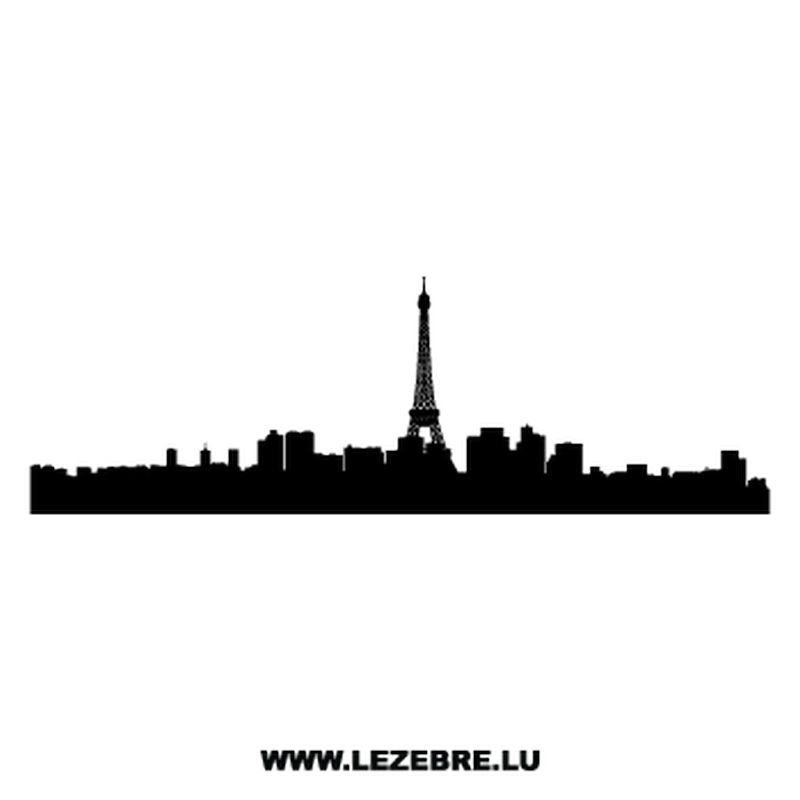 800x800 Silhouette Paris Decal