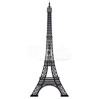 200x200 Eiffel Tower Black Silhouette Vector French, Paris Stock Vectors