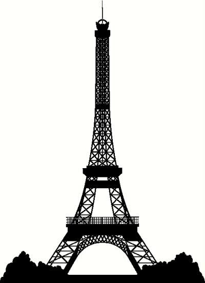 Paris Silhouette Skyline
