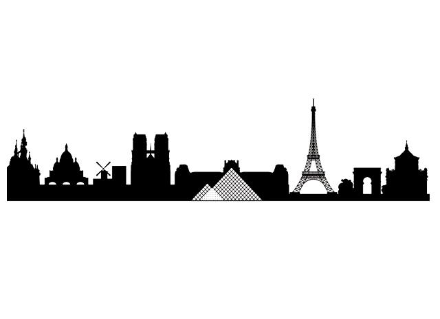 Paris Silhouette Skyline At GetDrawings