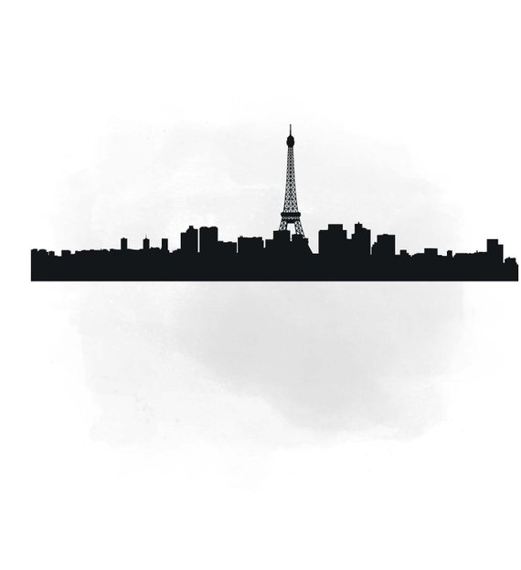 570x624 City Skyline Paris Svg Clipart International City Art