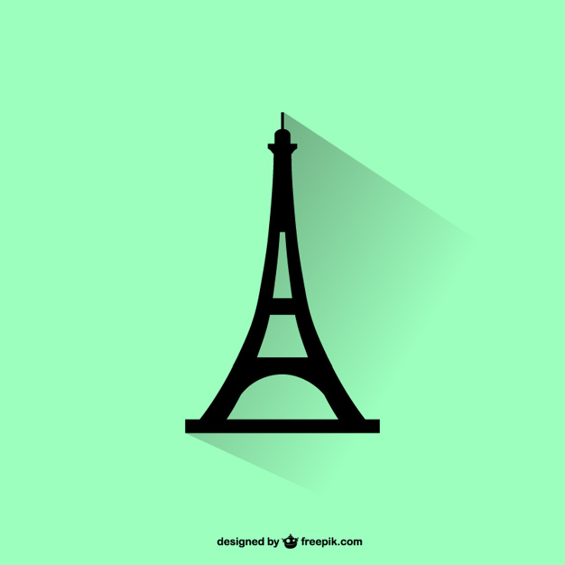 626x626 Eiffel Tower Silhouette Vector Free Download