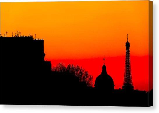 546x387 Paris Silhouette Canvas Prints