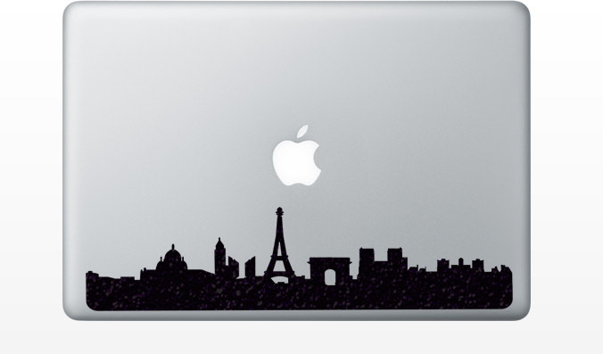 676x397 Paris Skyline Fabric Decal Ipad Pro Decal Eiffel Tower