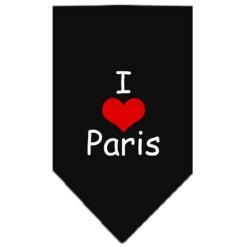 247x247 Paris Skyline Silhouette Screen Print Dog Bandana