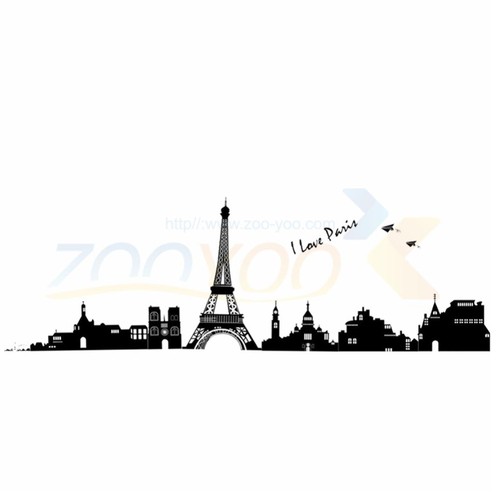 1000x1000 Free Shipping I Love Paris Eiffel Tower Wall Stickers Zooyoo7199