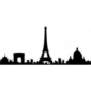 315x315 Eiffel Tower Skyline Silhouette