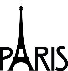 285x300 Paris Eiffel Tower Decal Paris France Window Bumper Sticker Car