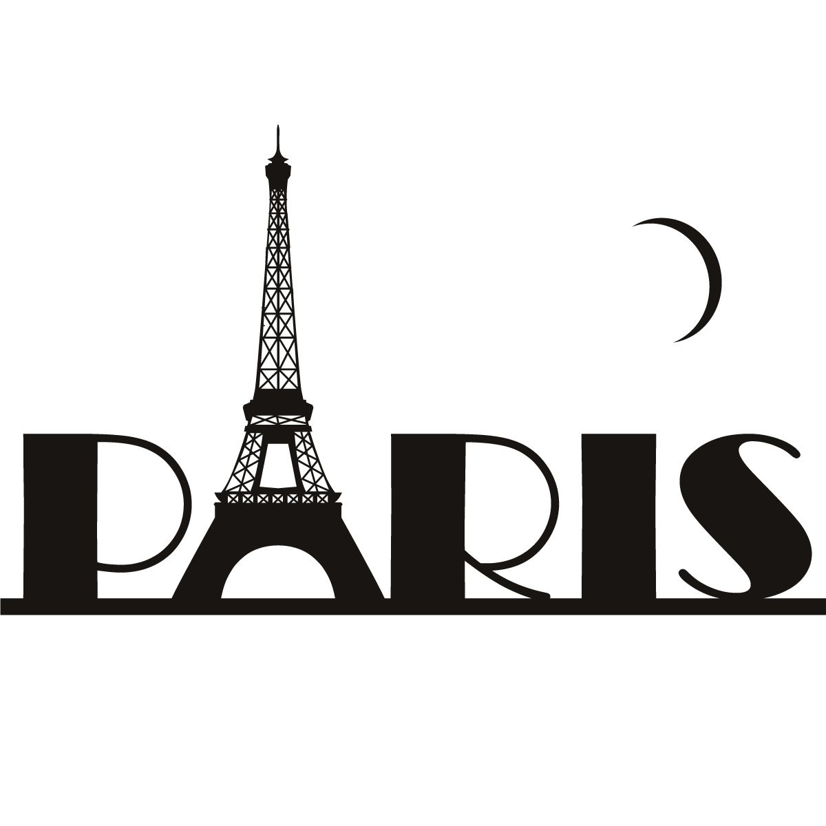 1200x1200 Paris Eiffel Tower France Wall Art Sticker Wall Decal Transfers