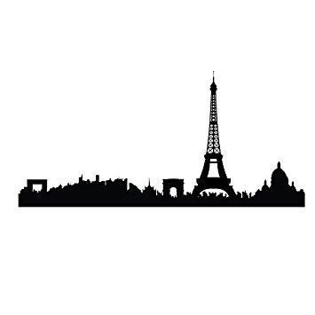 355x355 Paris Skyline With Eiffel Tower