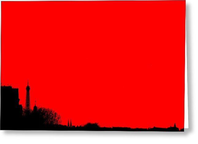 646x470 Stylized Paris Skyline With Eiffel Tower. Silhouette On Colorful