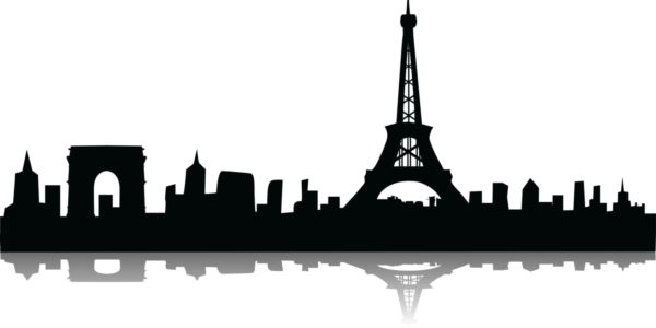 600x300 Vector Image Of Eiffel Tower.