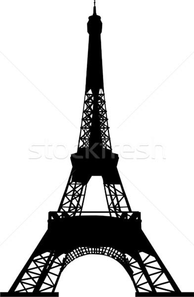 392x600 Silhouette Of Eiffel Tower Vector Illustration Goce Risteski