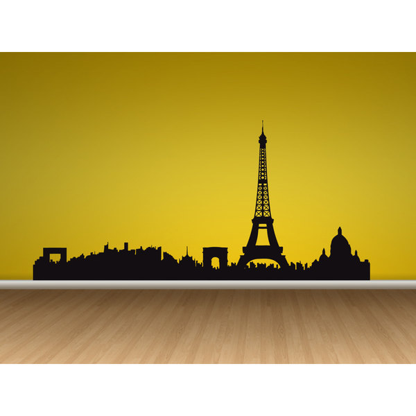 Paris Skyline Silhouette With Eiffel Tower at GetDrawings.com | Free ...