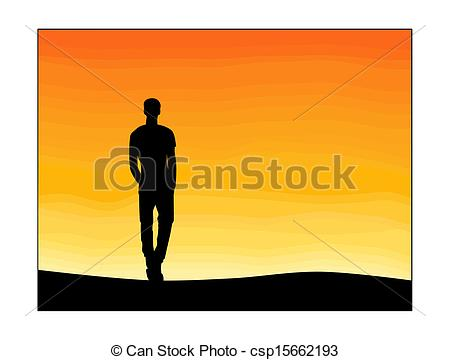 450x360 Lonely Boy Silhouette Vector Stock Photo Images. 81 Lonely Boy