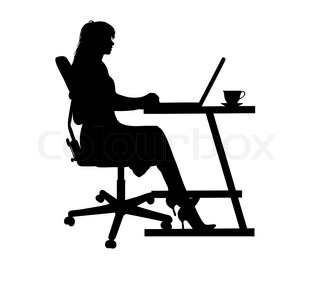 320x288 Silhouette Of A Man Typing