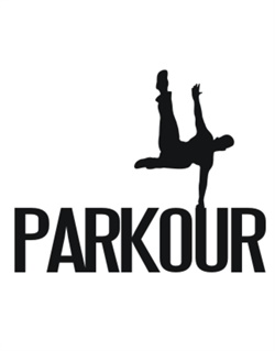250x319 Parkour Silhouette Crossing Sign