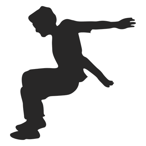 512x512 Parkour Jumping Silhouette 10