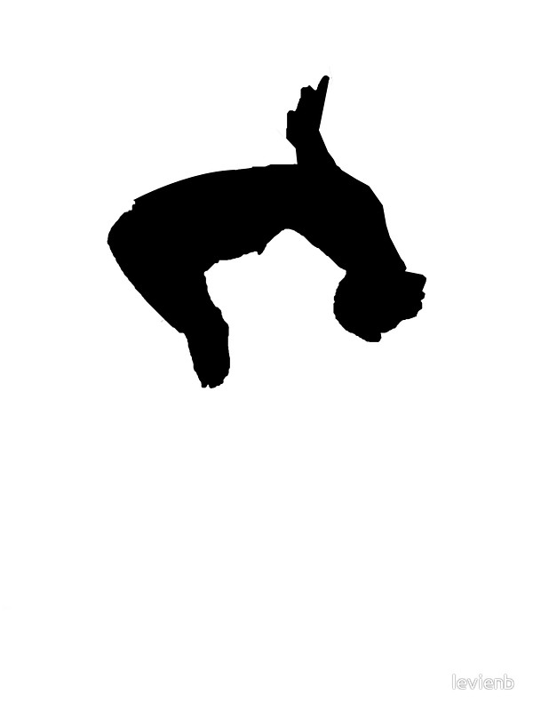 600x800 Parkour Backflip Stickers By Levienb Redbubble
