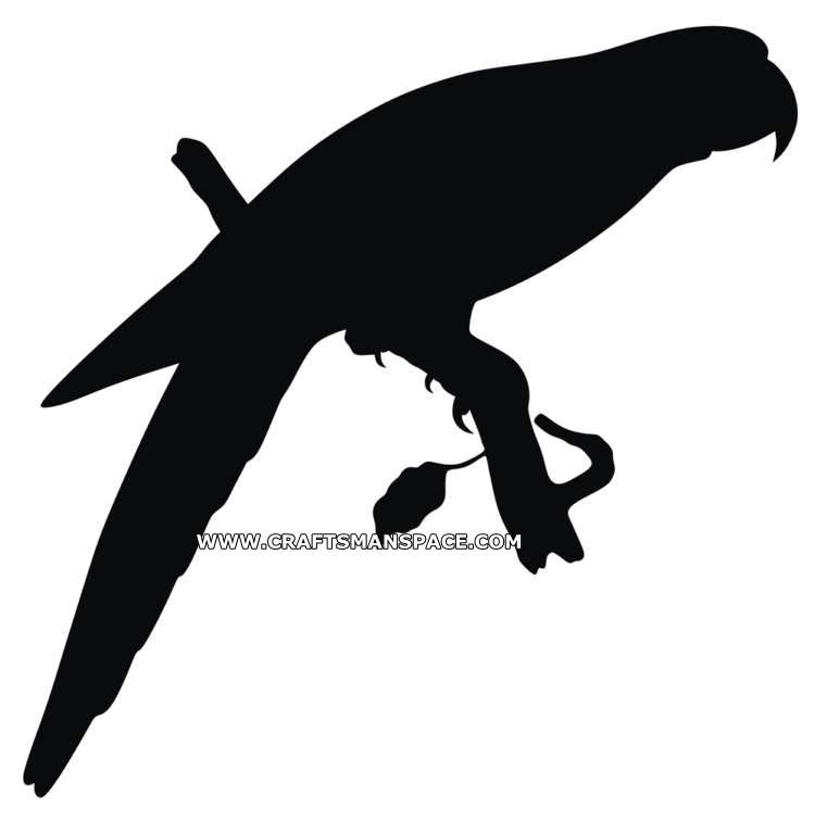750x754 Parrot Silhouette Vector Pattern