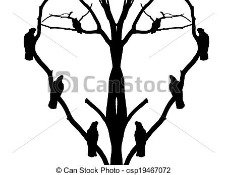 450x348 Parrot Silhouette On The Tree Picture